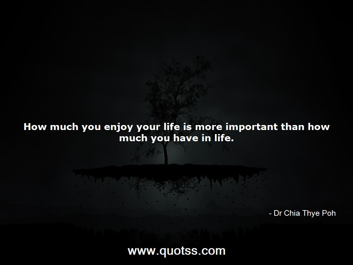 Dr Chia Thye Poh Quote on Quotss