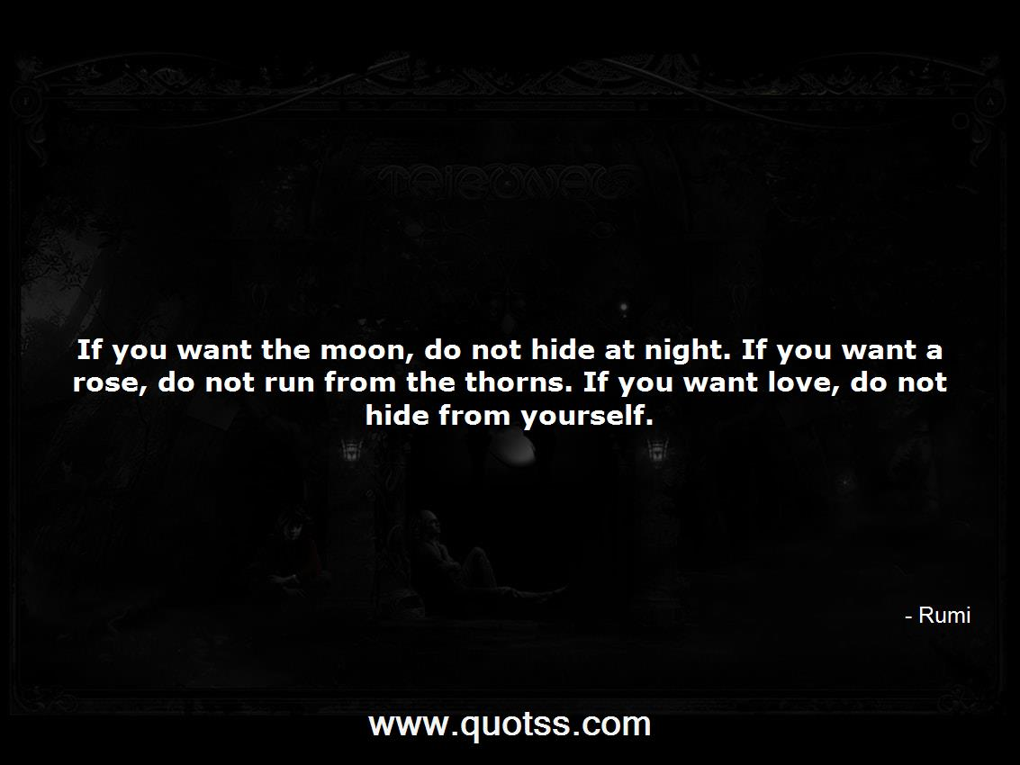 If You Want The Moon Do Not Hide At Night If You Want A Rose Do