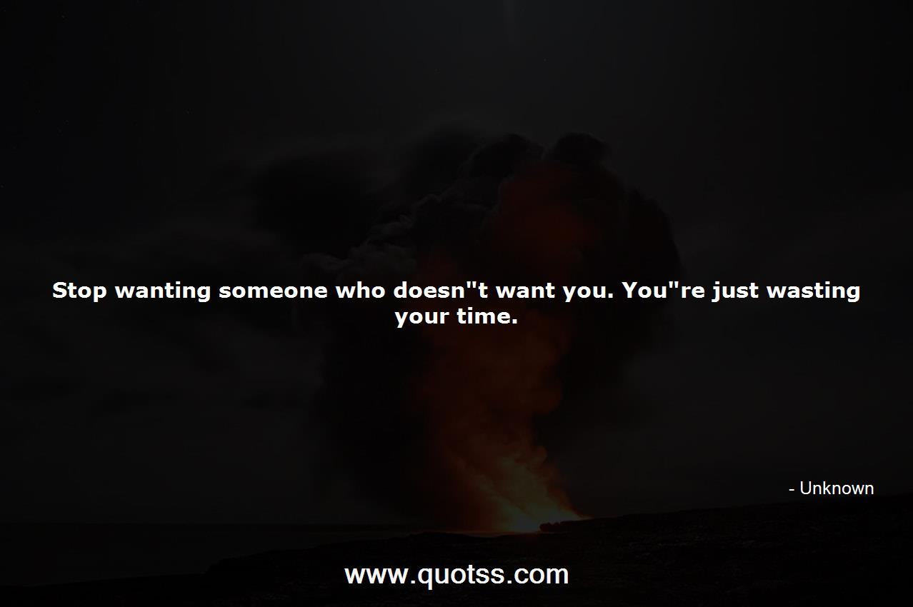 Stop wanting someone who doesn\