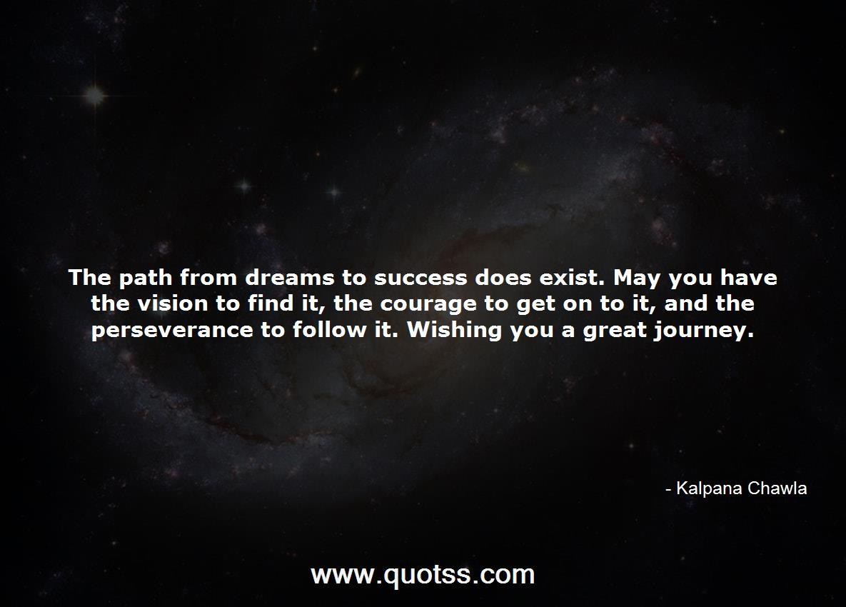 The Path From Dreams To Success Does Exist May You Have The Vision