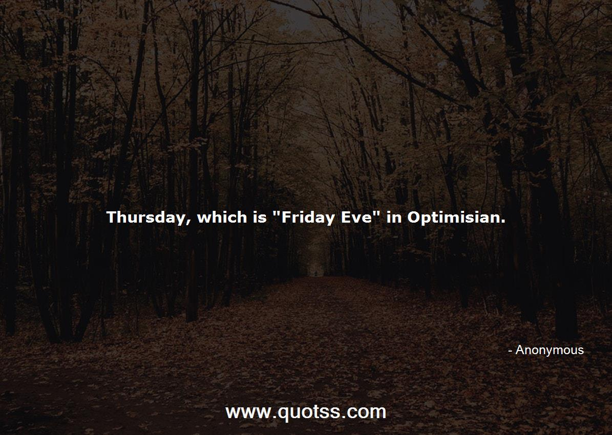 Thursday, which is \